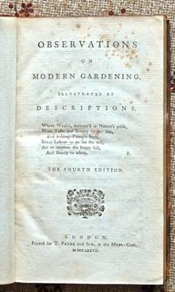 Observations on Modern Gardening Illustrated by Descriptions.
