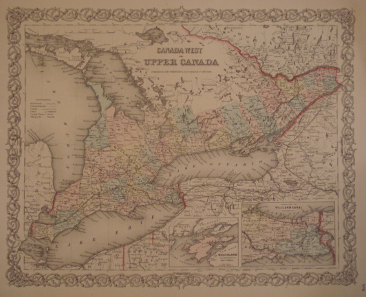 Map. Canada West or Upper Canada.