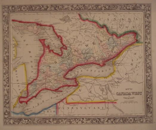 Map. Canada West in Counties.