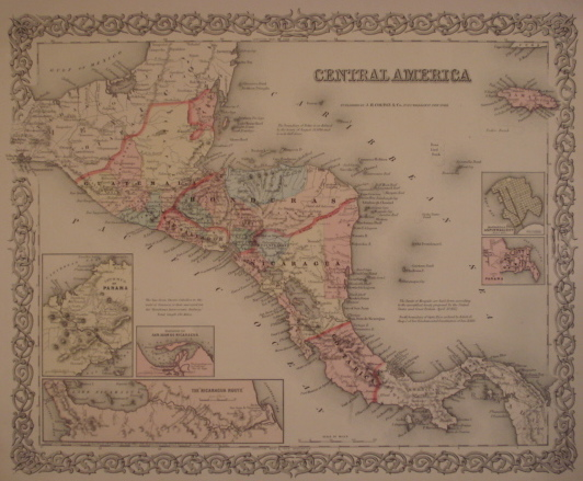 Map. Central America.