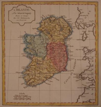 Map. L'Irlande.