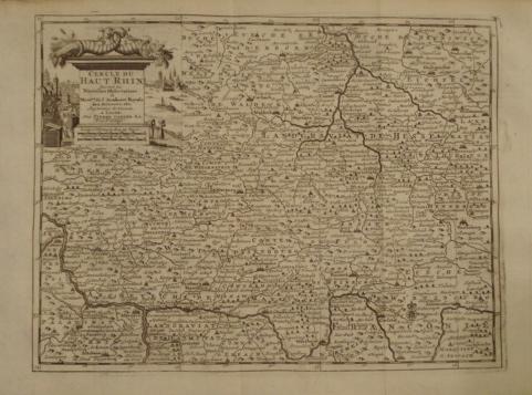 Map. Cercle de Haut Rhin. Suivant les Nouvelles...