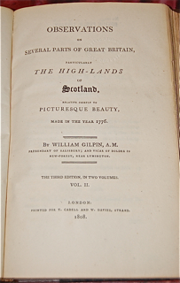 Observations on Several Parts of Great Britain, Particularly the High-Lands of Scotland, Relative Chiefly to Picturesque Beauty, Made in the Year 1776.