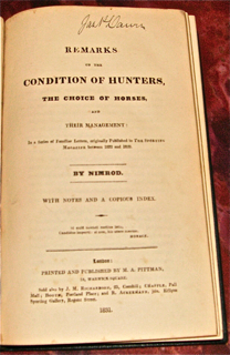 Remarks on the Condition of Hunters, the Choice...