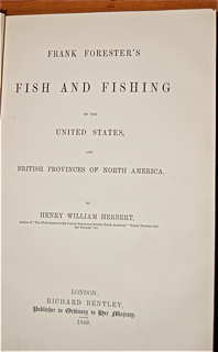 Frank Forester's Fish and Fishing of the United...