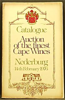 Auction of the Finest Cape Wines. Auction Catalo...
