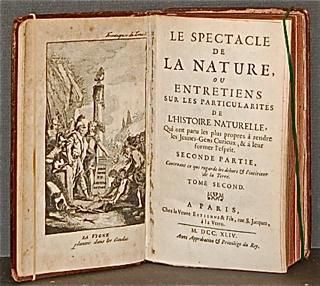 Le Spectacle de la Nature, ou Entretiens sur les...