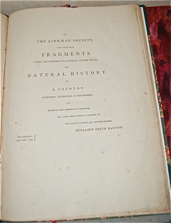 Fragments of the Natural History of Pennsylvania, Part First