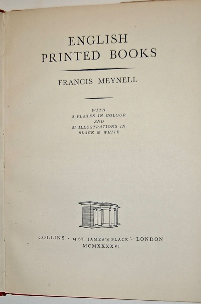 English Printed Books.