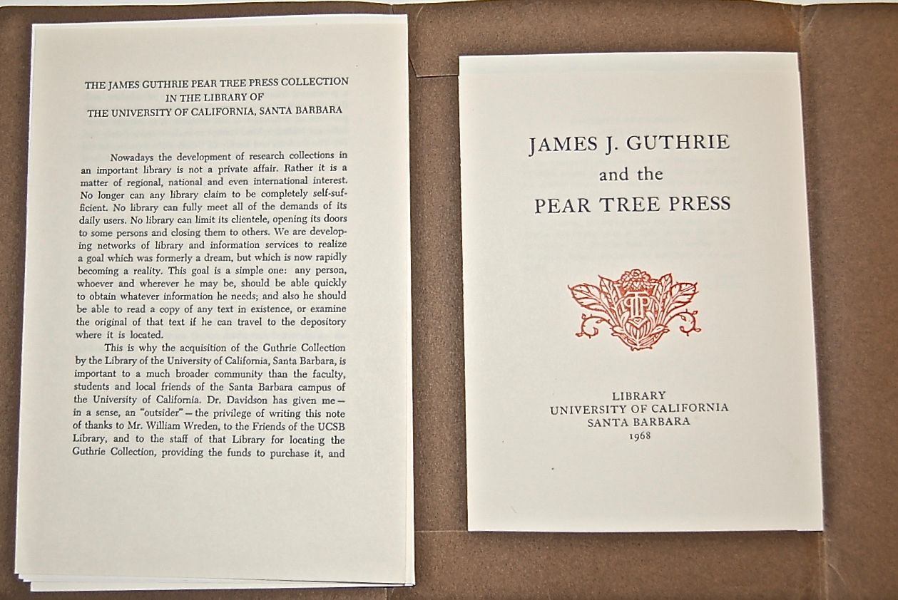 James Guthrie & the Pear Tree Press.