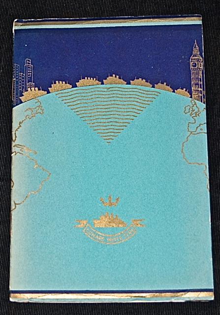 R. M. S. Aquitania, Cunard White Star Lines, Lis...