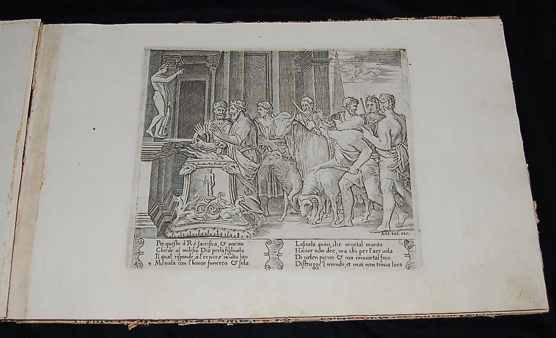 The Story of the Marriage of Cupid and Psyche from the Golden Ass of Apuleius. A suite of  twenty-seven copper engravings depicting the story of Cupid and Psyche by Master of the Die (fl. 1532- 50) and Augustino Veneziano (1490- 1536?).