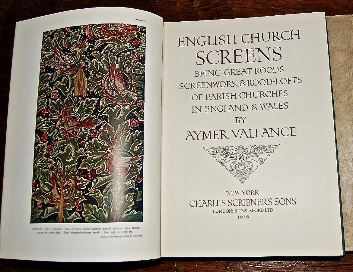 English Church Screens, Being Great Roods, Screenwork & Rood-Lofts of Parish Churches in England and Wales.