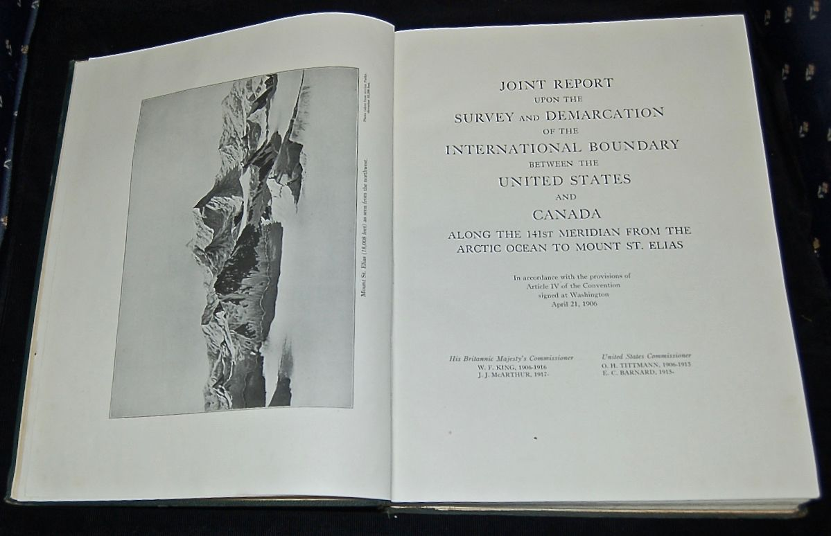 Joint Report Upon the Survey and Demarkation of the International Boundary between the United States and Canada along the 141st Meridian from the Arctic Ocean to Mount St. Elias.