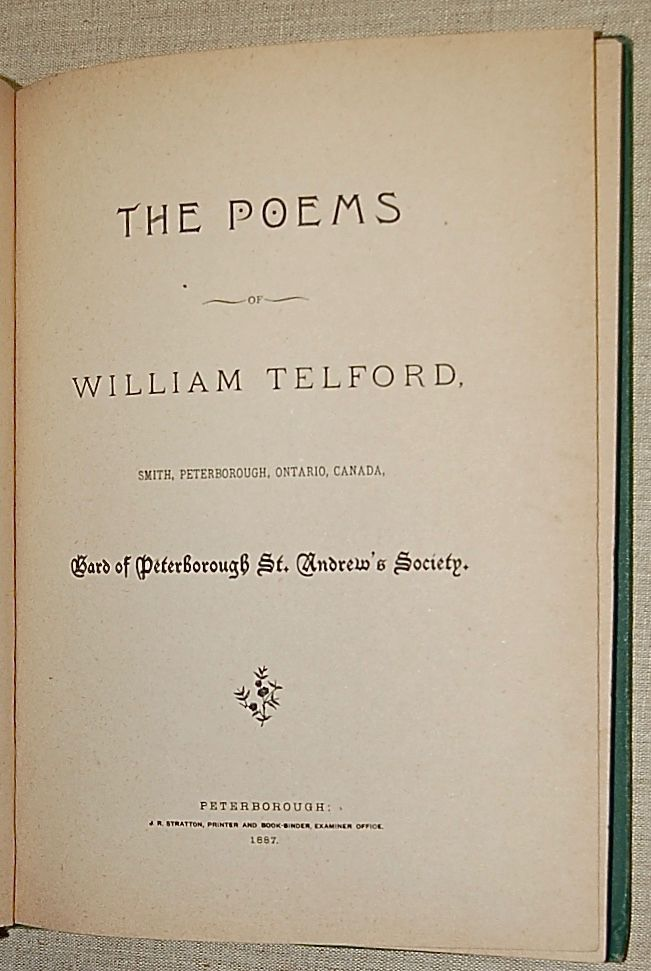 The Poems of William Telford TOGETHER WITH  The Selected Poems of William Telford