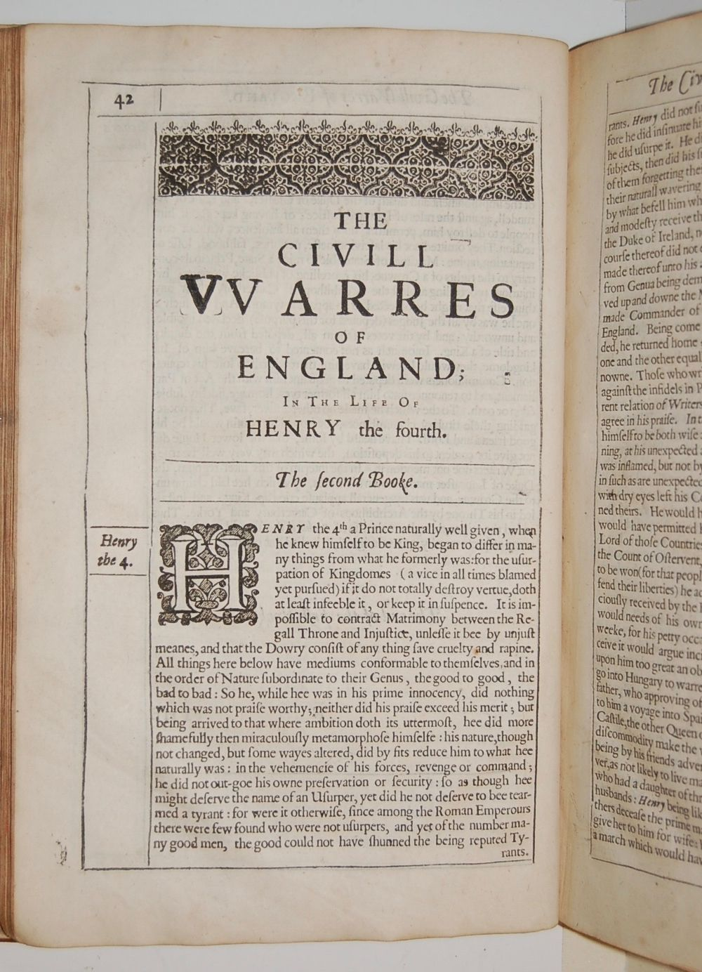 An History of the Civil VVarres of England, Between the two Houses of Lancaster and Yorke.