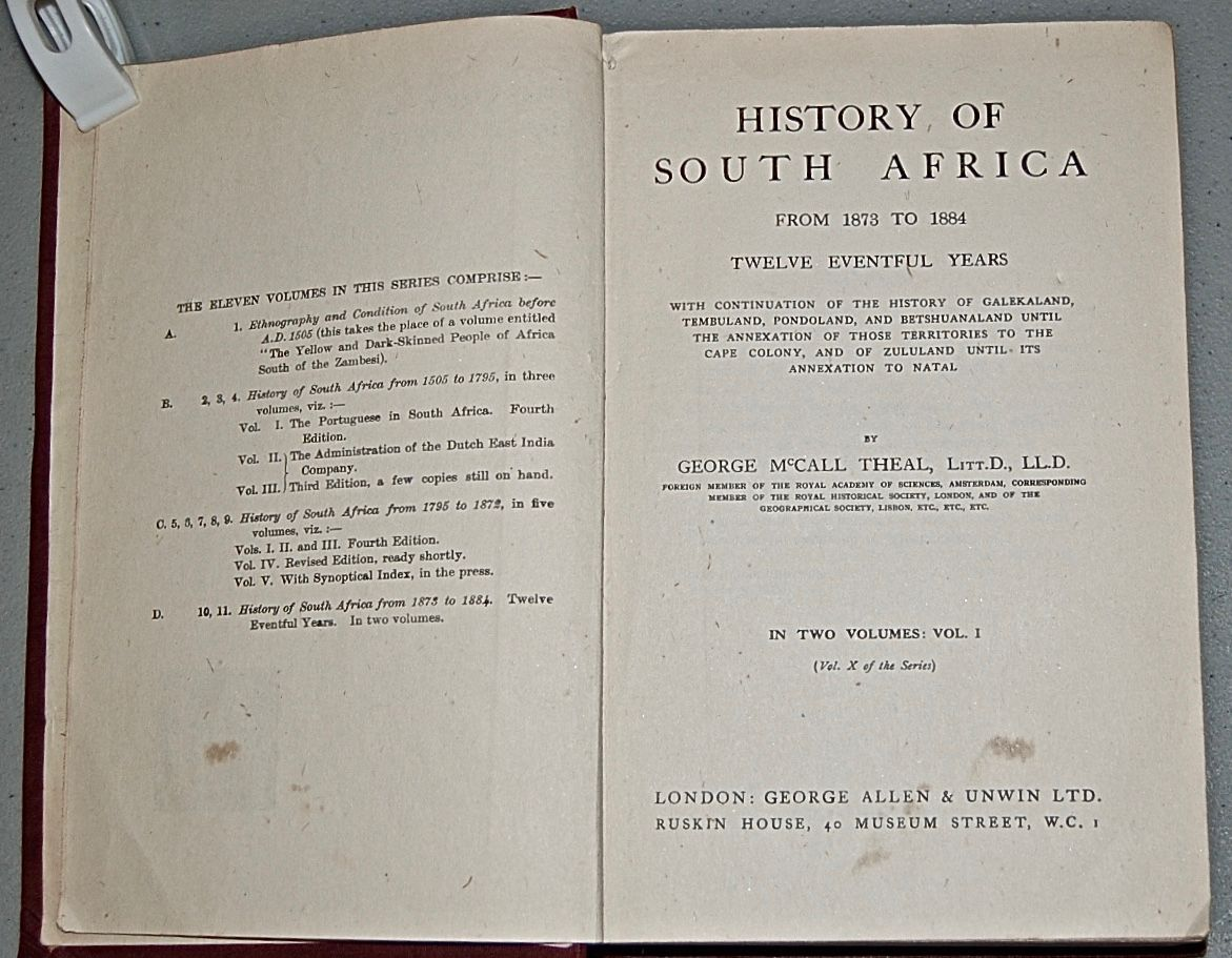 History of South Africa from 1873 to 1884, Twelve Eventful Years.